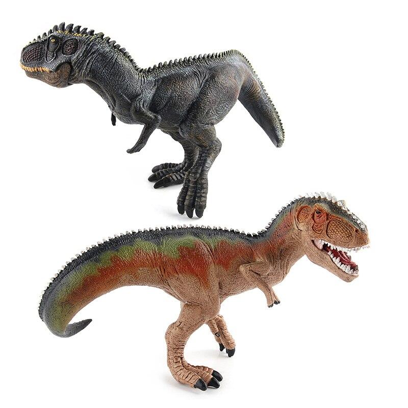 Jurassic Giganotosaurus Dinosaur Toys Action Figure Animal Collection Learning & Educational Model Mandible Moveable #E wiben jurassic carnotaurus dinosaur toys action figure animal model collection learning