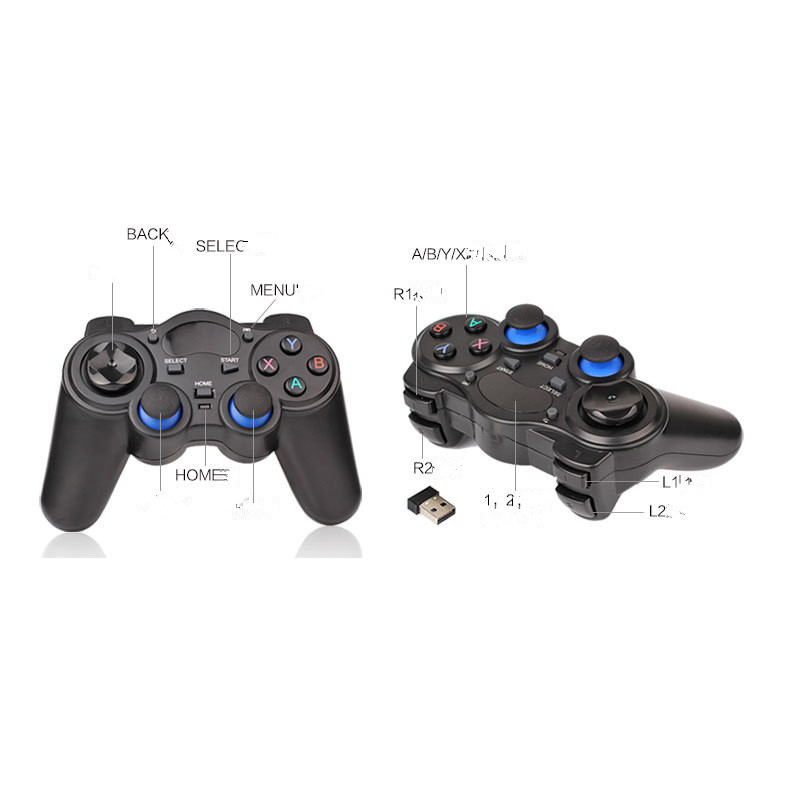 Купить с кэшбэком 2.4G Wireless Game Controller Joystick Gamepad With USB Adapter For Android TV Box Use AA battery