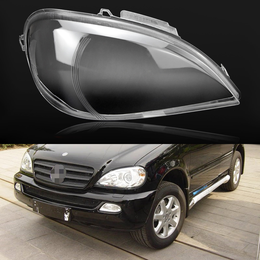 For Mercedes-Benz W163 ML320 ML350 ML500  Car Headlight Headlamp Clear Lens Auto Shell CoverFor Mercedes-Benz W163 ML320 ML350 ML500  Car Headlight Headlamp Clear Lens Auto Shell Cover