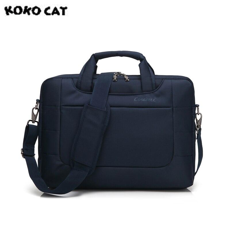 Kokocat Водонепроницаемый crushproof 15.6 дюймов Тетрадь сумки ноутбук сумка для Для мужчин Для женщин Портфели Повседневное сумка 3 цвета