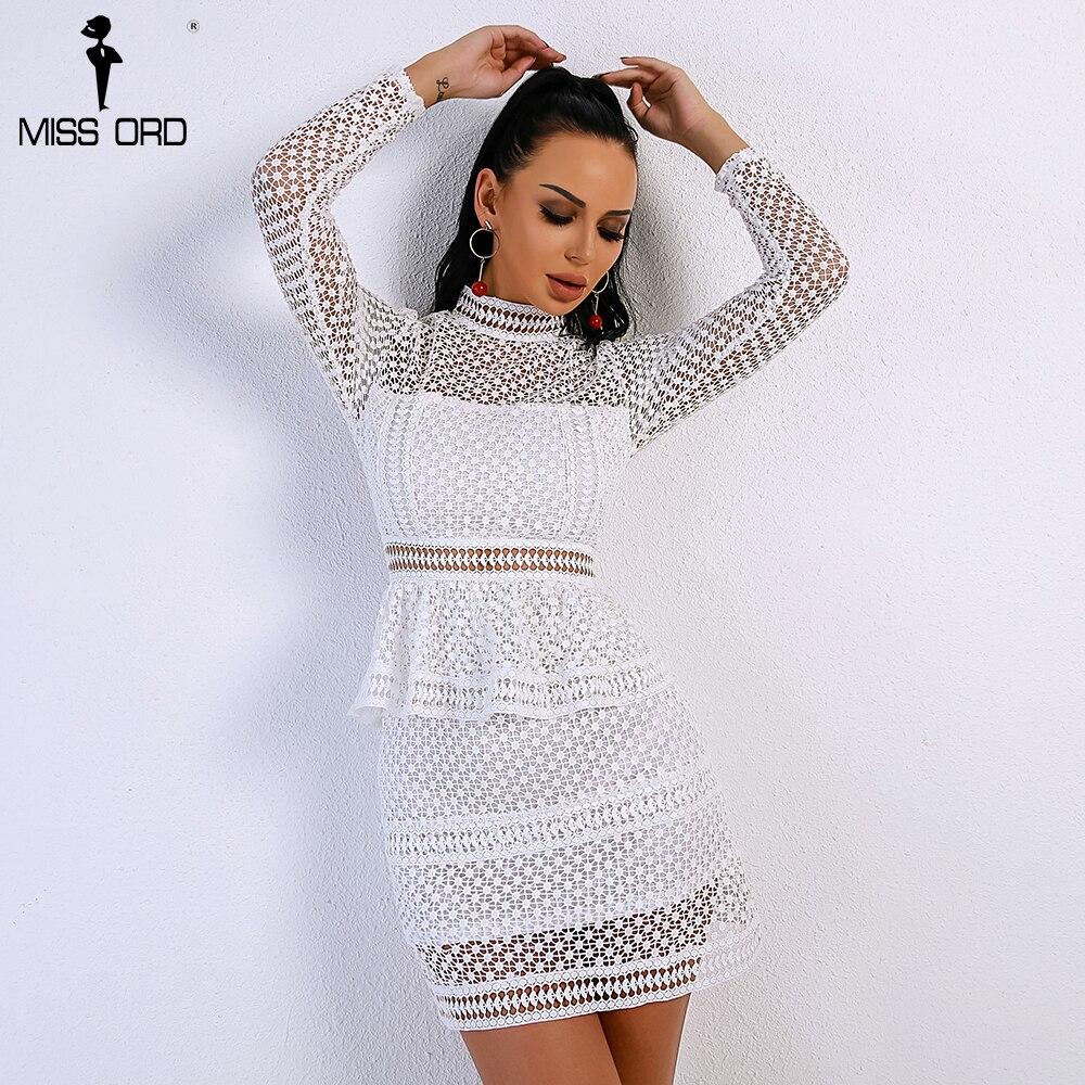 Maniche Femminile Sexy Di 2 Alto Scava Mini Elegante Lunghe Ft9053 Abiti  Pizzo Collo Primavera Dress ... 00646eee834