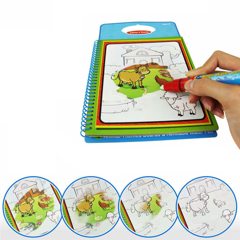 №Magic Kids libro de dibujo de agua con 1 Magic pen intimate ...