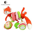 0-24 Months Baby Toys Fox Educational Mobile Toys For Kids Newborn Baby Confort Cot Beds Rattle Hands Eyes Training Stroller Toy