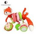 0-24 meses baby toys fox móvel educacional toys for kids Conforto Camas Berço Do Bebê recém-nascido Chocalho Mãos Olhos Treinamento Carrinho De Criança brinquedo