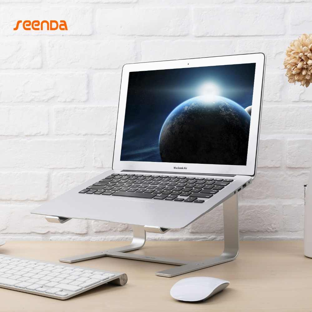 SeenDa الألومنيوم حامل كمبيوتر محمول مريح المعادن التبريد دفتر حامل ل ماك كتاب الهواء برو قاعدة قوس لأجهزة الكمبيوتر المحمول 10 ''-17''
