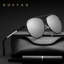 GUZTAG gafas de sol polarizadas UV400 para hombre y mujer, lentes de sol Unisex de marca clásica, de aluminio, G8002