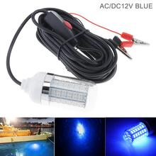 15W 30W 12V 108pcs 2835 LED Underwater Fishing Light Lures Fish Finder Lamp Attracts Prawns Squid Krill Blue Green White Light