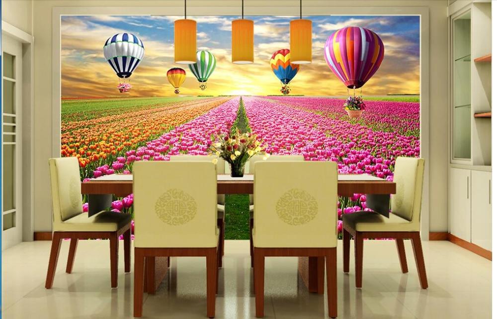 Custom photo 3d wallpaper Non woven mural The tulip flowers ...