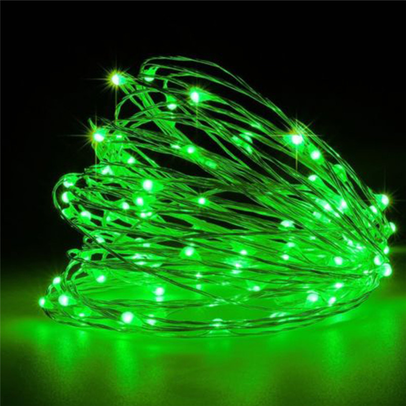 1/2/3M String Light Battery Powered Garland Copper Wire LED Fairy Light For Indoor Outdoor Christmas Lights Decoration
