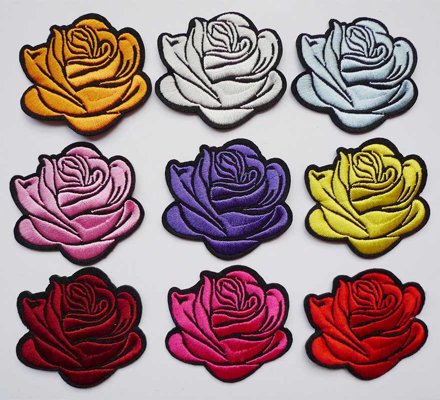 1 шт. 3D вышивка с розами в полоску металлическая аппликация нашивки шитье для одежды джинсы одежда платье ремесла значки-наклейки