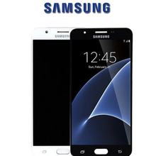 Orijinal LCDs SAMSUNG Galaxy J7 başbakan 2018 dokunmatik ekran Digitizer için SAMSUNG Galaxy G611 LCD yedek parçalar