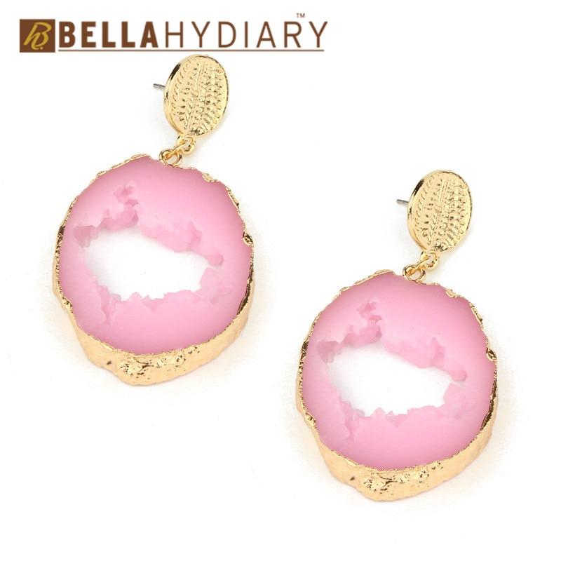 Druzy earrings resin earrings jewelry Ohrringe bijoux earings earring earing pendientes brinco big earrings vintage jewelry wedding earrings geometric earrings long earrings gifts for women (4)
