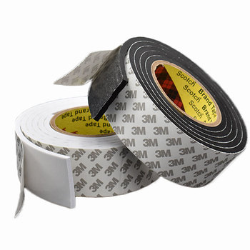 168d98213fb3 1 piezas (5 M) fuerte esponja Eva cinta adhesiva negro blanco cinta de  espuma de doble cara para la automoción Exterior Trim partes inicio Hardware