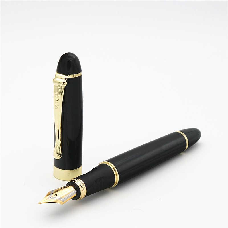Jinhao X450 Fountain Pen Black Medium Nib Gold Trim Fountain Pen Y4I6 FB