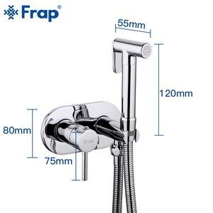Image 2 - Смесители для биде FRAP, латунный кран для душа в ванную комнату, биде, унитаз, ручная душевая мойка, мусульманский душ