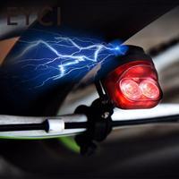 Mountain Bike Taillight Headlight Riding Night Bicycle Handlebar Light Warming Safety LED Flashing Light