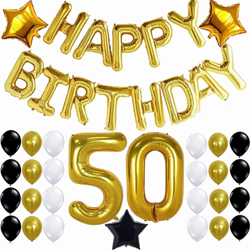 30th Birthday Party Decoration 30 Years Balloon Supplies 50th For Him Her Photo Backdrop