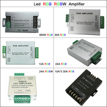 цена на Aluminum DC5V-24V Led Controller 12A/24A/30A 3CH 4CH Led RGB RGBW Amplifier for 5050 3528 Led Strip Tape Power Repeater Console