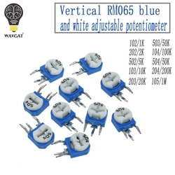 20PCS RM065 RM-065 100 200 500 1K 50 20 10 5 2K K K K K 100K 200K 500K 1M ohm Trimpot Trimmer Potenciômetro resistor variável