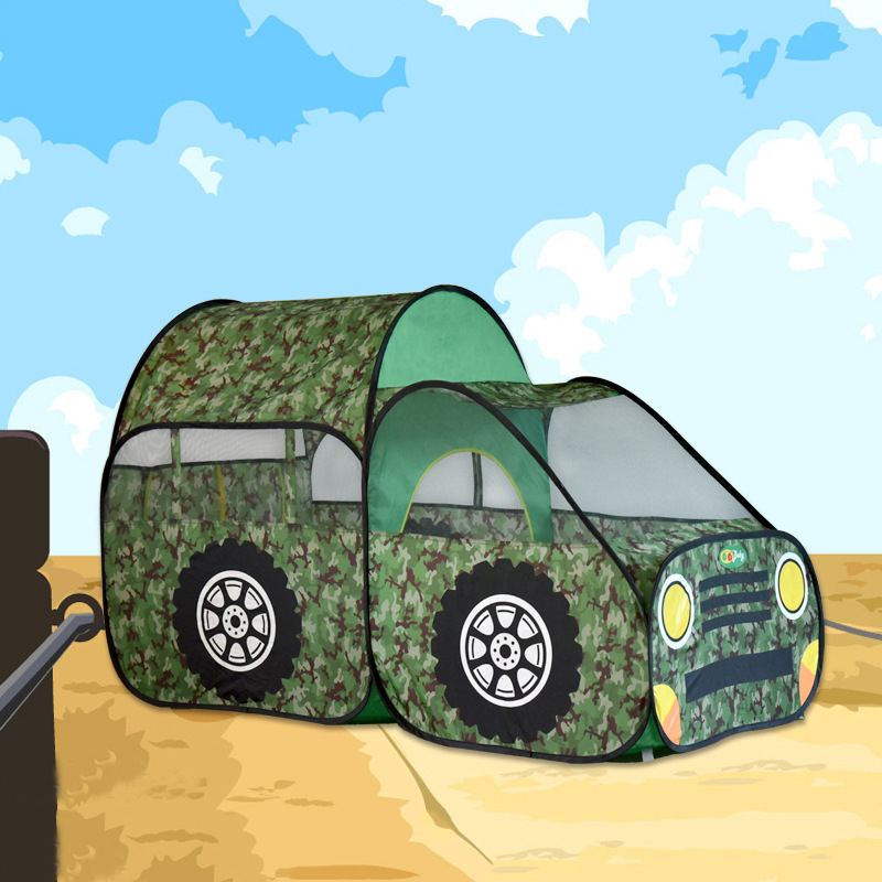 ФОТО Army Green Car Toy Tent Big Size Kids Playing House 180x145x120cm Gift for Children