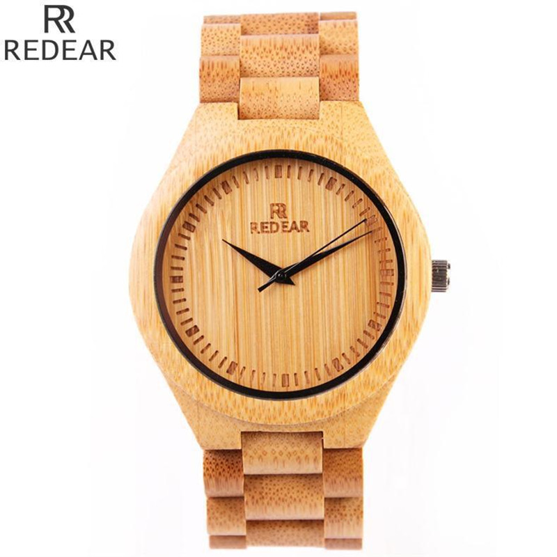 REDEAR902 all bamboo material luxury men s font b watch b font font b watch b