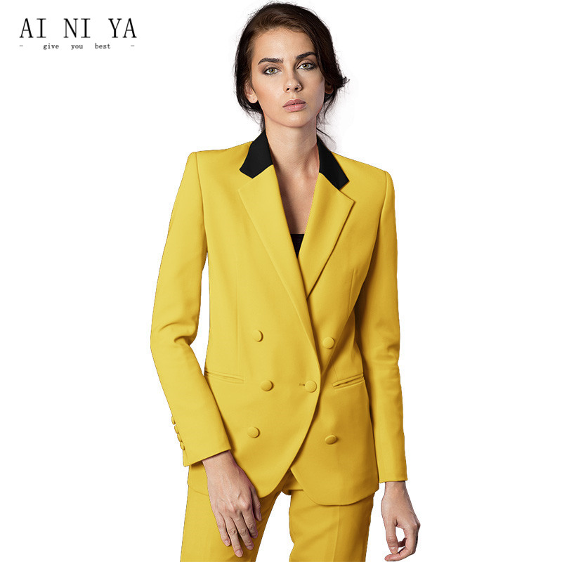 Custom Made Women Business Suits Formal Office Suits Work Jacket+Pants 2 Piece Ladies Pants Suits Female Office Unifrom Blazers