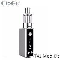 Originele CIGGO T41 Starter Kit 1100 mAH Ingebouwde Batterij T41 TC Box Mod Kit ego 510 draad 2 ml Tank Elektronische Sigaret Kit