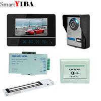SmartYIBA 7 Zoll Video Türsprechanlage Türklingel Video-sprechanlage türklingel Farbe Monitor Zugangskontrolle Exit-button