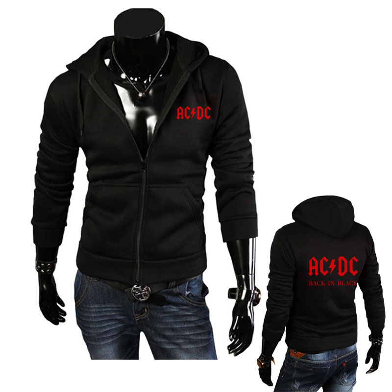 Autumn Winter New fashion AC/DC band rock sweatshirt Mens acdc Graphic hooded men Print Casual hoodies hip hop brand tracksui-in Hoodies & Sweatshirts from Men's Clothing