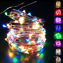 1M 2M 3M 4M 5M 10M Button AA Battery USB Operated LED String Cooper Wire Fairy Light Waterproof Home Holiday Decoration Lighting(China)