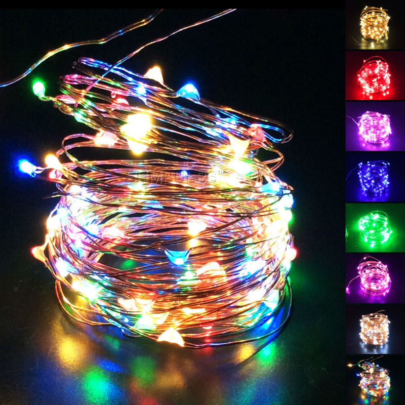 1M 2M 3M 4M 5M 10M Button AA Battery USB Operated LED String Cooper Wire Fairy Light Waterproof Home Holiday Decoration Lighting