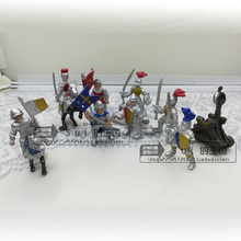 PVC figure Doll model toy Scene simulation model toy knight and dragon Soldier Catapult 10pcs/set