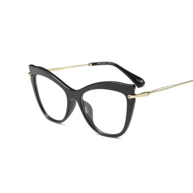 75bce623928 ... Sexy Black Frame Glasses Spectacle Frames For Women Fashion Fake Glasses  Myopia Brand Designer Spectacles Cat ...