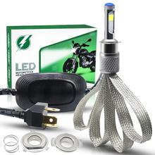 Motorcycle Light H4 LED Headlight Bulb 28W COB Chip Moto Universal Front Headlamp AC/ DC 9-18V