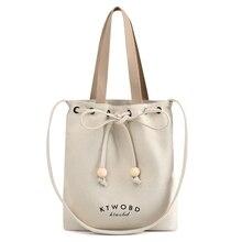 2019 Ladies Cloth Canvas Tote Bag Handmade Cotton Shopping Travel Women Folding Shoulder shopper Bags bolsas de tela