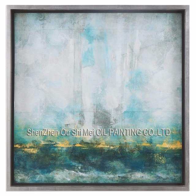 seascape paintings on canvas aliexpresscom buy hand painted green abstract seascape oil
