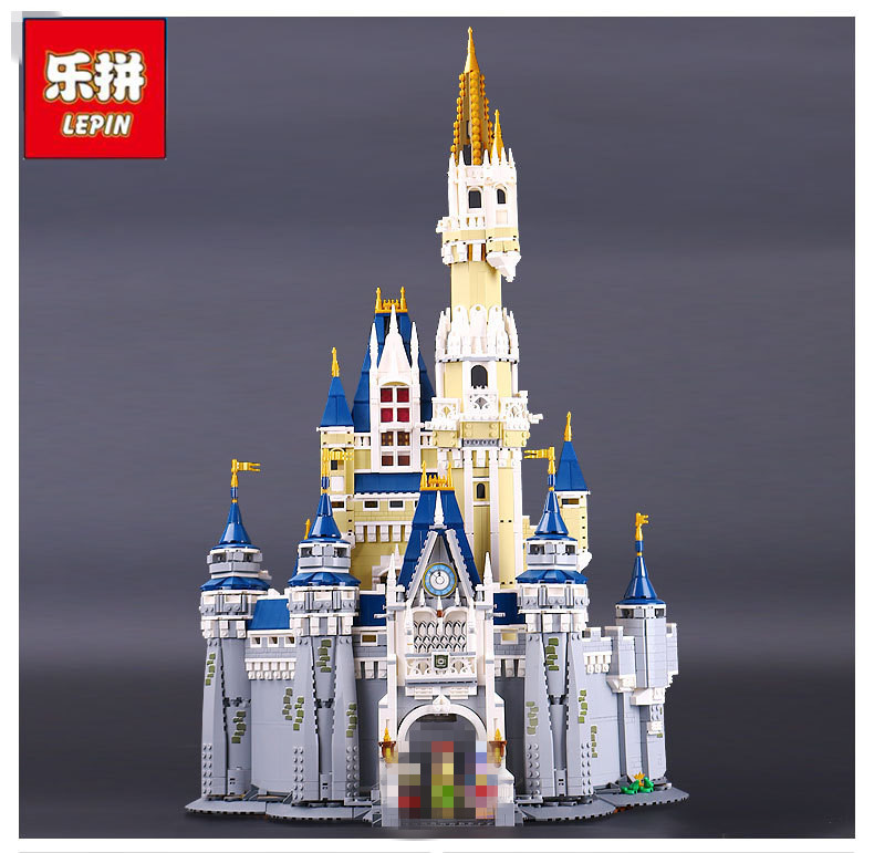 Lepin 16008 Cinderella Princess Castle City Model  Blocks Bricks Education Toy For Children Best birthday Gifts Compatible 71040 lepine 16008 cinderella princess castle 4080pcs model building block toy children christmas gift compatible 71040 girl lepine