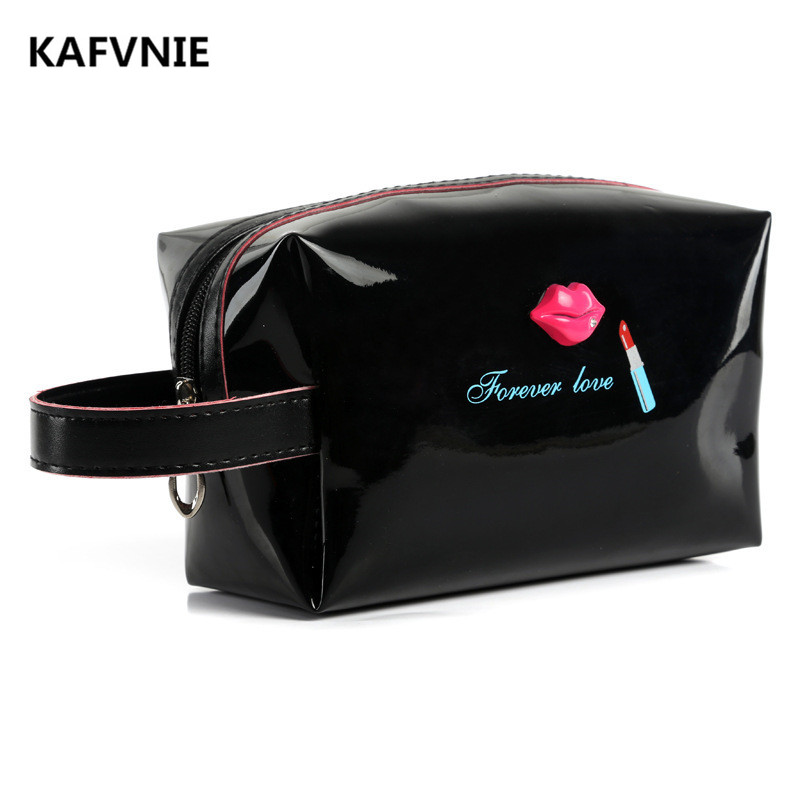 KAFVNIE Casual Canvas Cosmetic Bags Solid Color Zipper Barrel-shaped Women And Men Travel Cosmetics Bag Makeup Black color stylish women s solid color pleated culotte