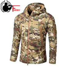 FIELD LIVED CAMOUFLAGE JACKET MEN 2019 Army Military Style Tactical Soft Shell Warm