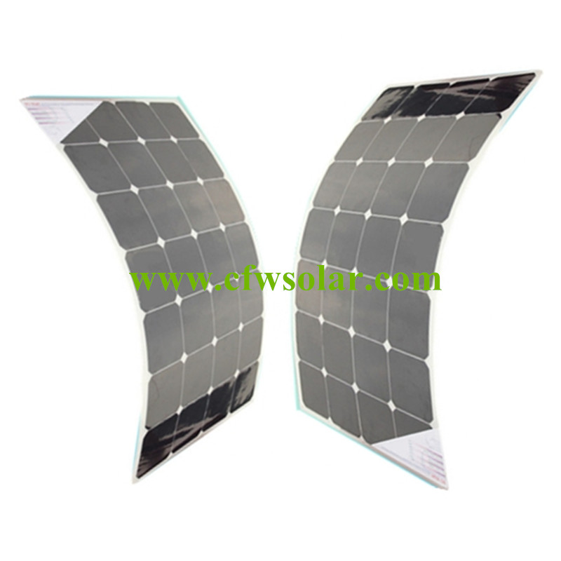 Factory directly price 160W is two pcs of module 80W flexible solar panel, solar power charger, with front side connection box