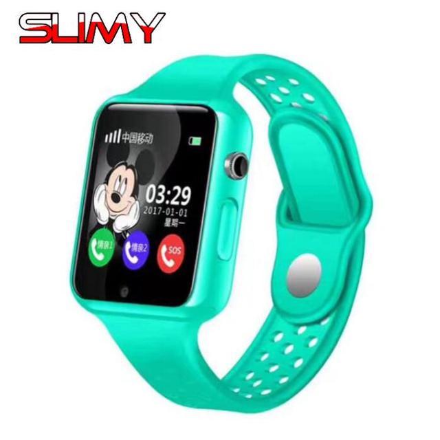 Slimy Waterproof GPS Baby Smart Watch Kids Hours Clocks SOS Call Location Device Tracker Children Safe Anti-Lost Monitor Pk DF27