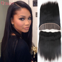 Brazilian Straight Lace Frontal Closure 13×4 Ear To Ear Frontal Malibu Dollface Pre Plucked 7A Virgin Hair Human Lace Frontal
