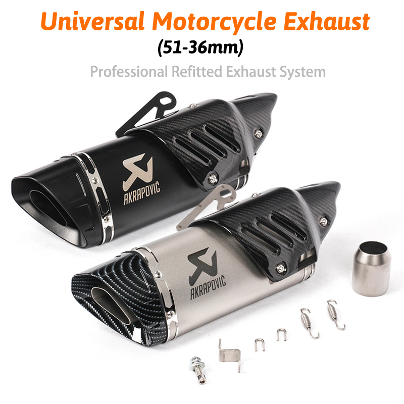 Motorcycle Akrapovic Exhaust Escape For R1 R6 R3 Z900 KTM390 K8 Modified Uiversal Motorbike Laser Scooter