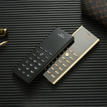 Luxury small mini card metal body dual sim key cell phone GSM senior Bar Russian keyboard thin button Mobile phone cectdigi V01