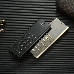 Image 1 - Mini cartão de luxo, pequeno, corpo de metal, telefone celular, dual sim, barra de celular, teclado russo, botão fino certdigi v01