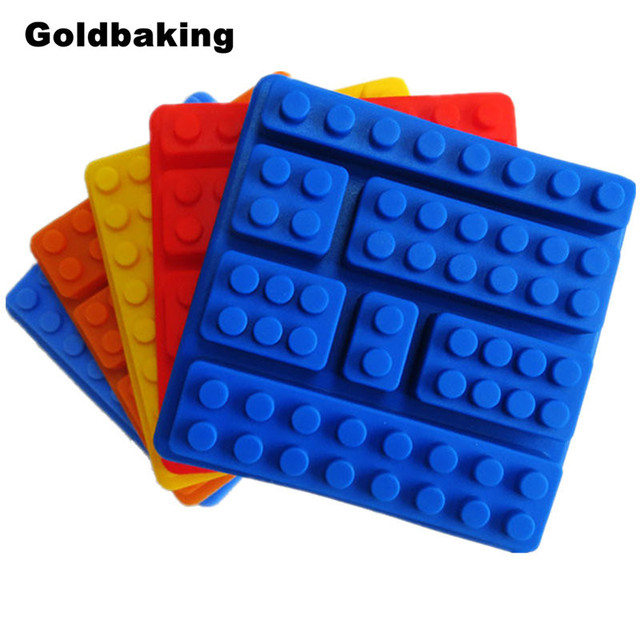 Silicon Cake Moulds Building Bricks Robot Silicone Chocolate Mold Ice Cube Tray