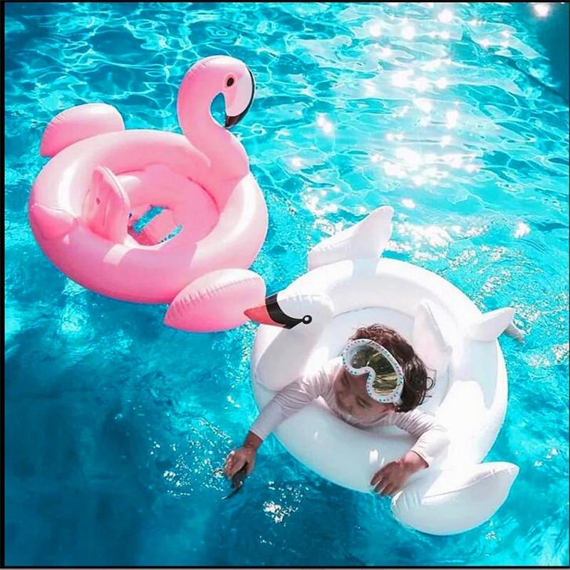 Babyzwemmen ring 1 tot 3 jaar oude kinderen witte zwaan flamingo's - Activiteit en uitrusting voor kinderen - Foto 3