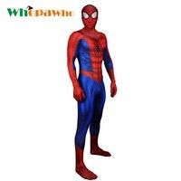 2018 Spider man Costume Spandex Zentai Halloween Superhero Costume for Men Fancy Dress Skin Tight Bodysuit