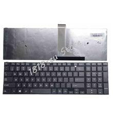 """אנגלית מקלדת עבור Toshiba לווין C50 C50D C50 A C50 A506 C50D A C55 C55T C55D C55 A C55D A מקלדת ארה""""ב עם מסגרת שחור"""