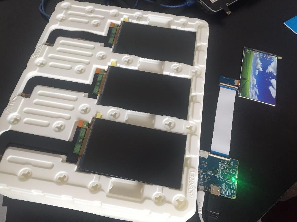 Ls055r1sx03 5.5 polegada 2k lcd placa de controlador para dlp/sla impressora 3d kld 1260 1268 impressora 3d tela exibição